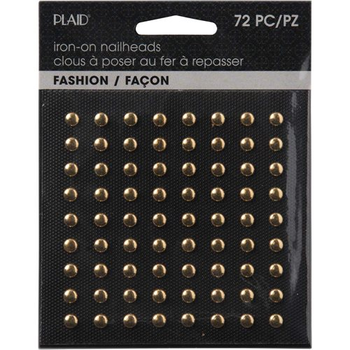 Plaid ® Hot Fix Nailhead Iron-Ons - Round Shiny Gold