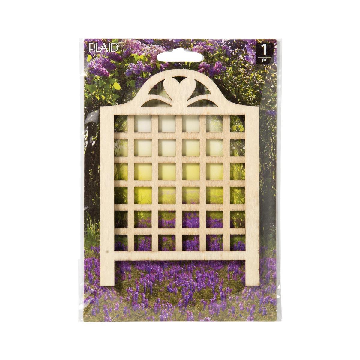 Plaid ® Wood Surfaces - Fairy Garden - Lattice