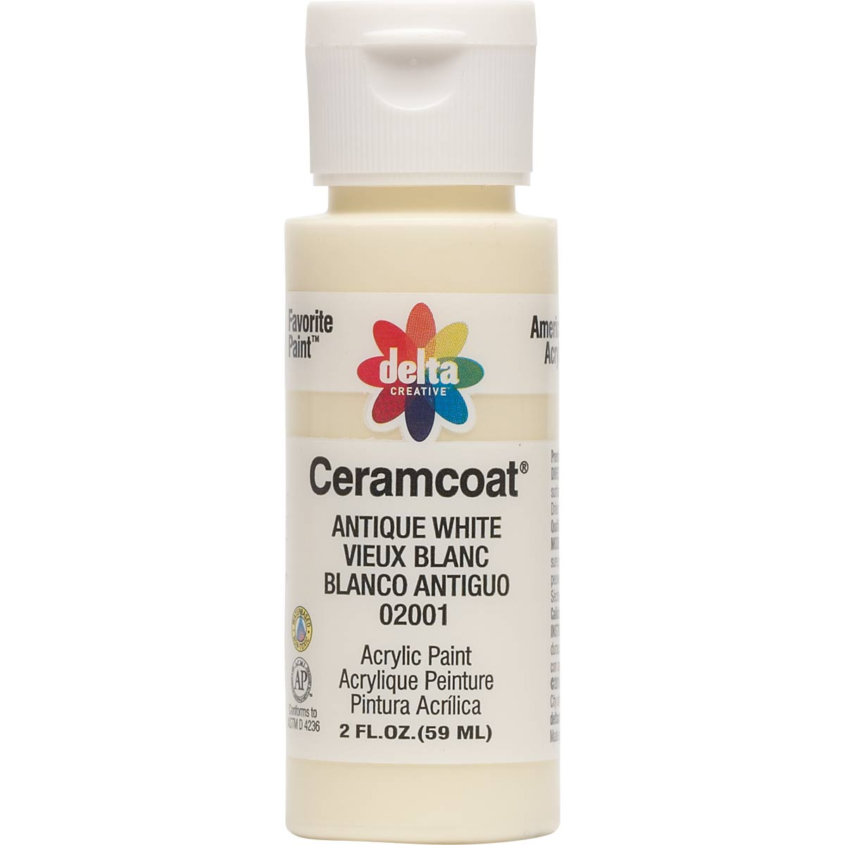 Delta Ceramcoat ® Acrylic Paint - Antique White, 2 oz. - 020010202W