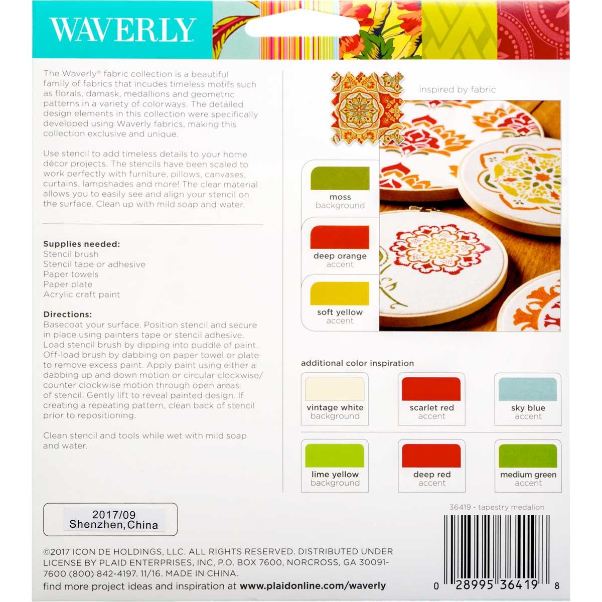 Waverly ® Laser Stencils - Tile Medallion, 5.5
