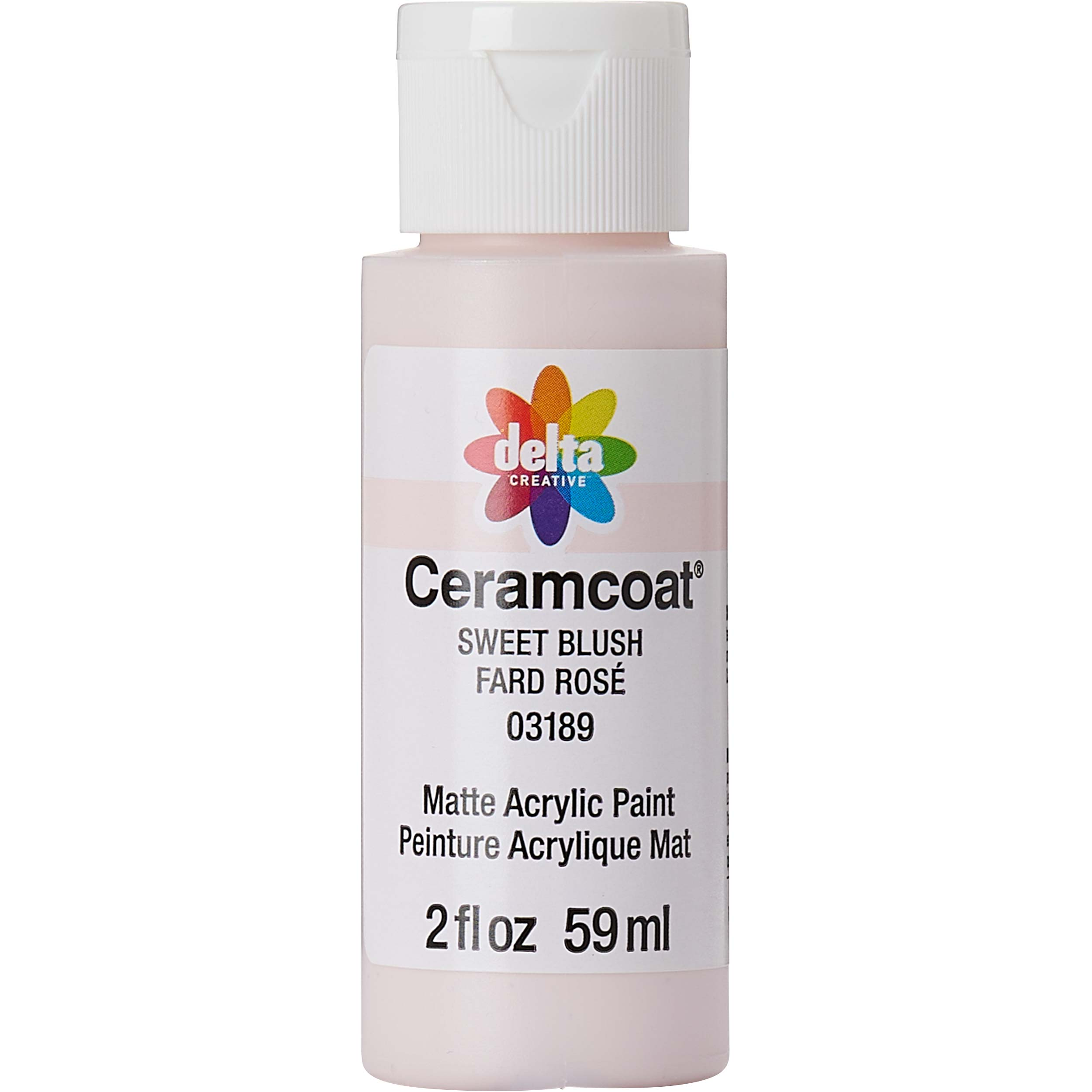 Delta Ceramcoat Acrylic Paint - Sweet Blush, 2 oz. - 03189