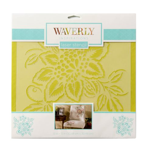 "Waverly ® Inspirations Laser Stencils - Décor - Floral, 12"" x 12"""