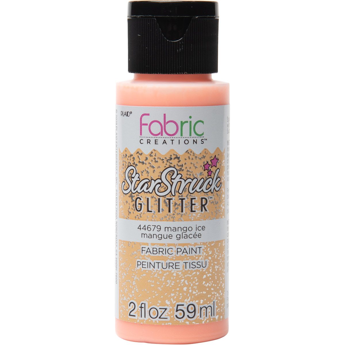 Fabric Creations™ StarStruck Glitter™ Fabric Paint - Mango Ice, 2 oz.