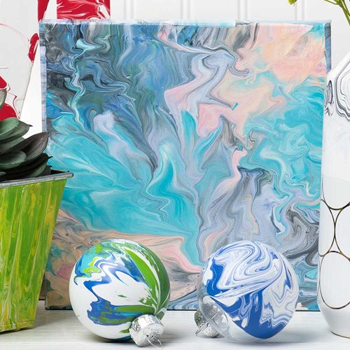 DIY Marbled Canvas