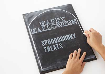 Halloween Tombstone Treat Sign