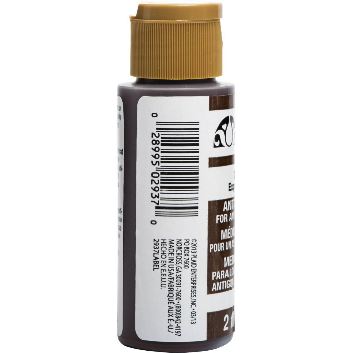 FolkArt ® Mediums - Antiquing Medium - Espresso, 2 oz.