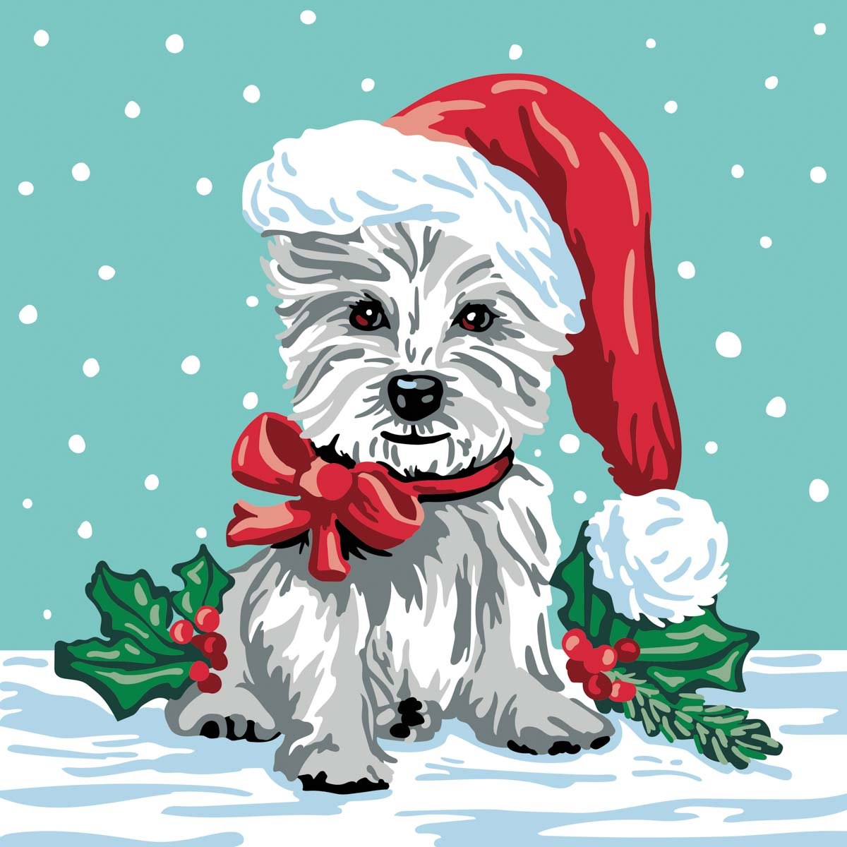 Plaid ® Let's Paint™ Modern Paint-by-Number - Christmas Terrier - 17923