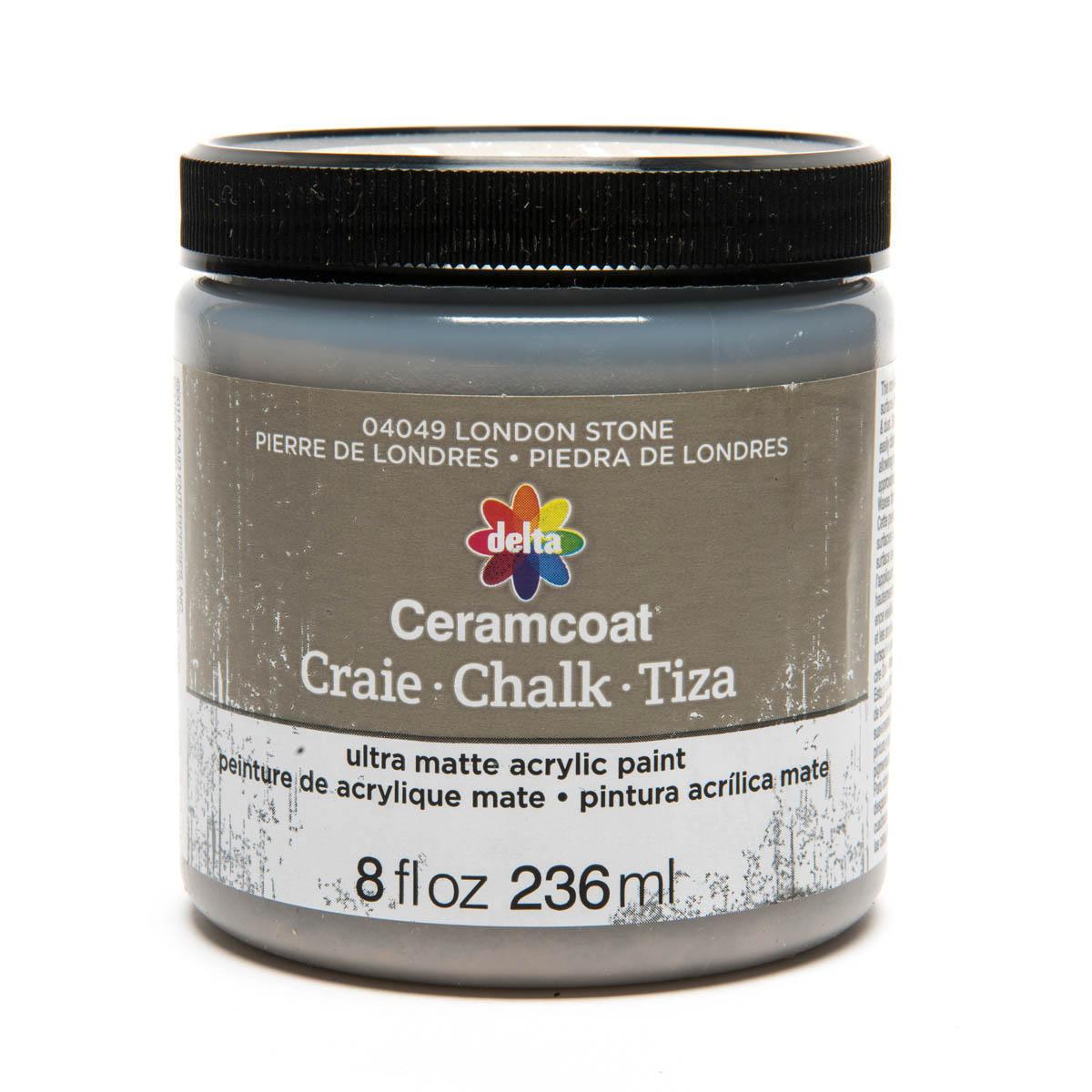 Delta Ceramcoat ® Chalk - London Stone, 8 oz.