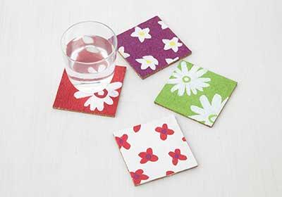 Floral Cork Coasters