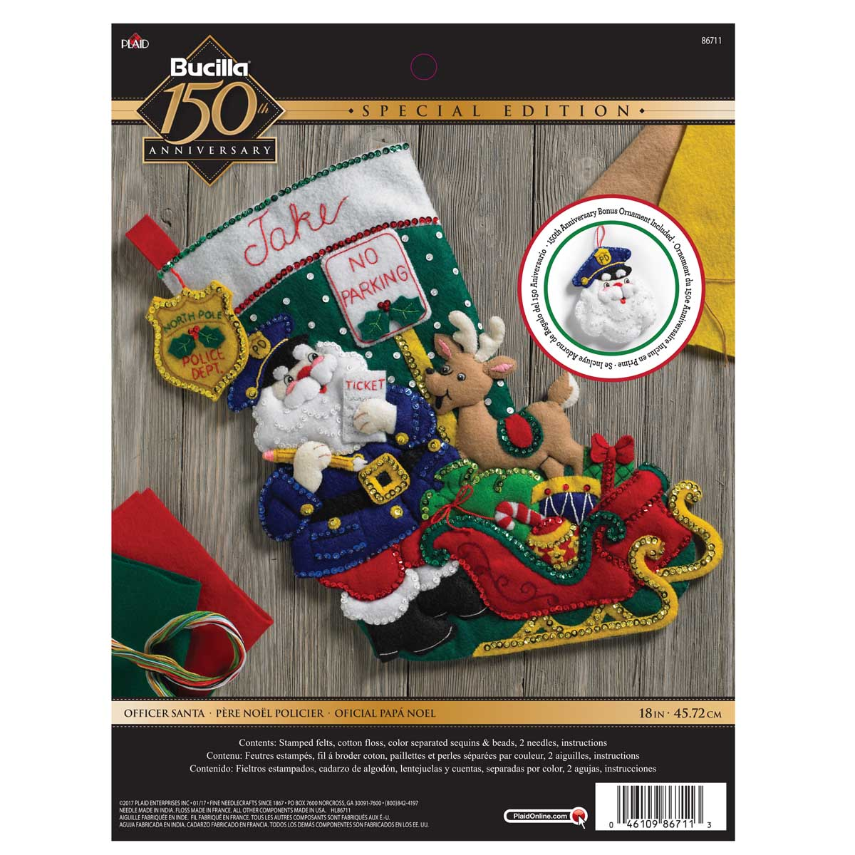 Bucilla ® Seasonal - Felt - Stocking Kits - Officer Santa