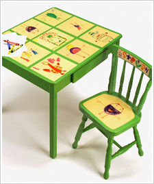 Child's Artwork Table & Chair Set