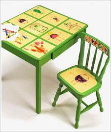 Child's Artwork Table & Chair Set