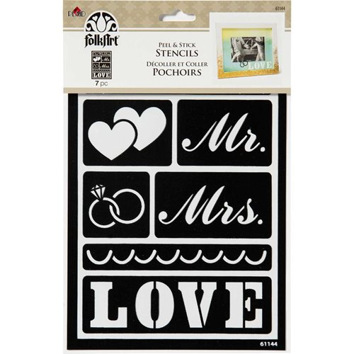 FolkArt ® Peel & Stick Painting Stencils - Our Wedding - 61144
