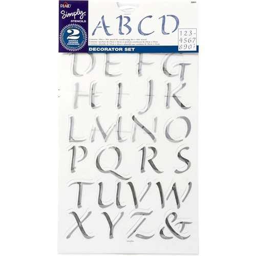 Simply ® Stencils - Value Packs - Alphabet & Number