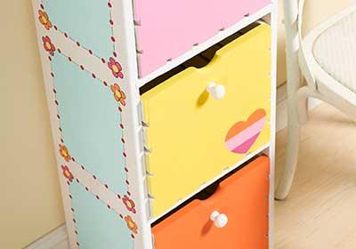 Kids' 3-Shelf Chest