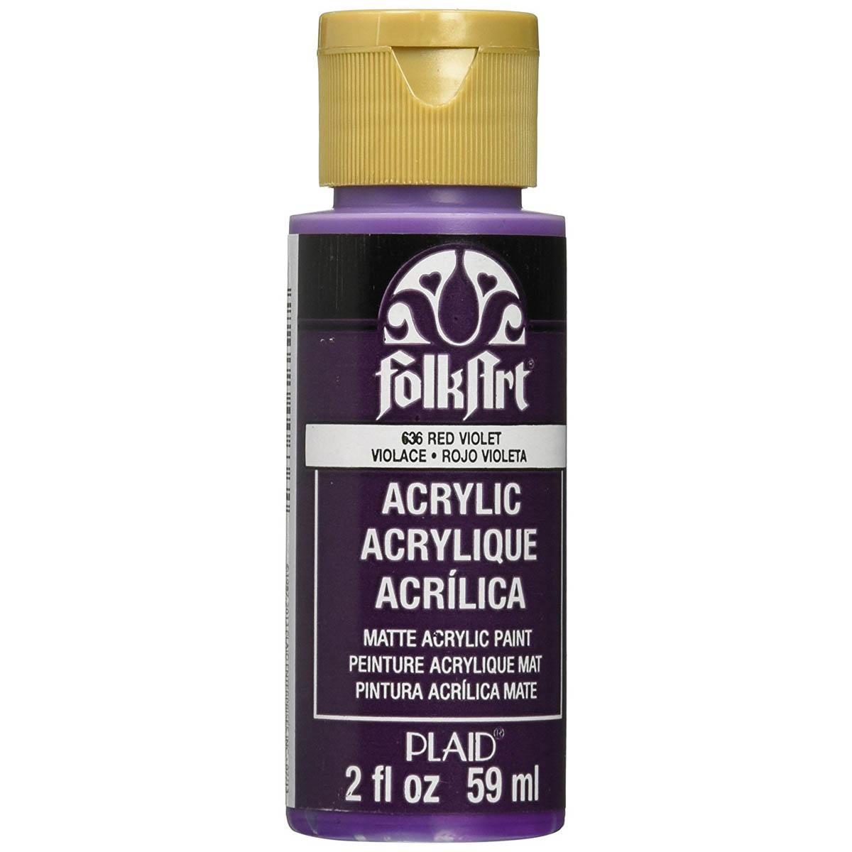 FolkArt ® Acrylic Colors - Red Violet, 2 oz.