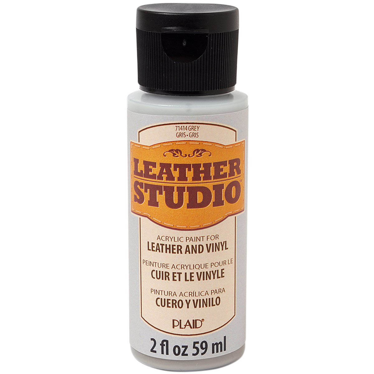 Leather Studio™ Leather & Vinyl Paint Colors - Grey, 2 oz. - 71414