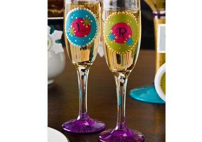 Monogrammed Holiday Glasses