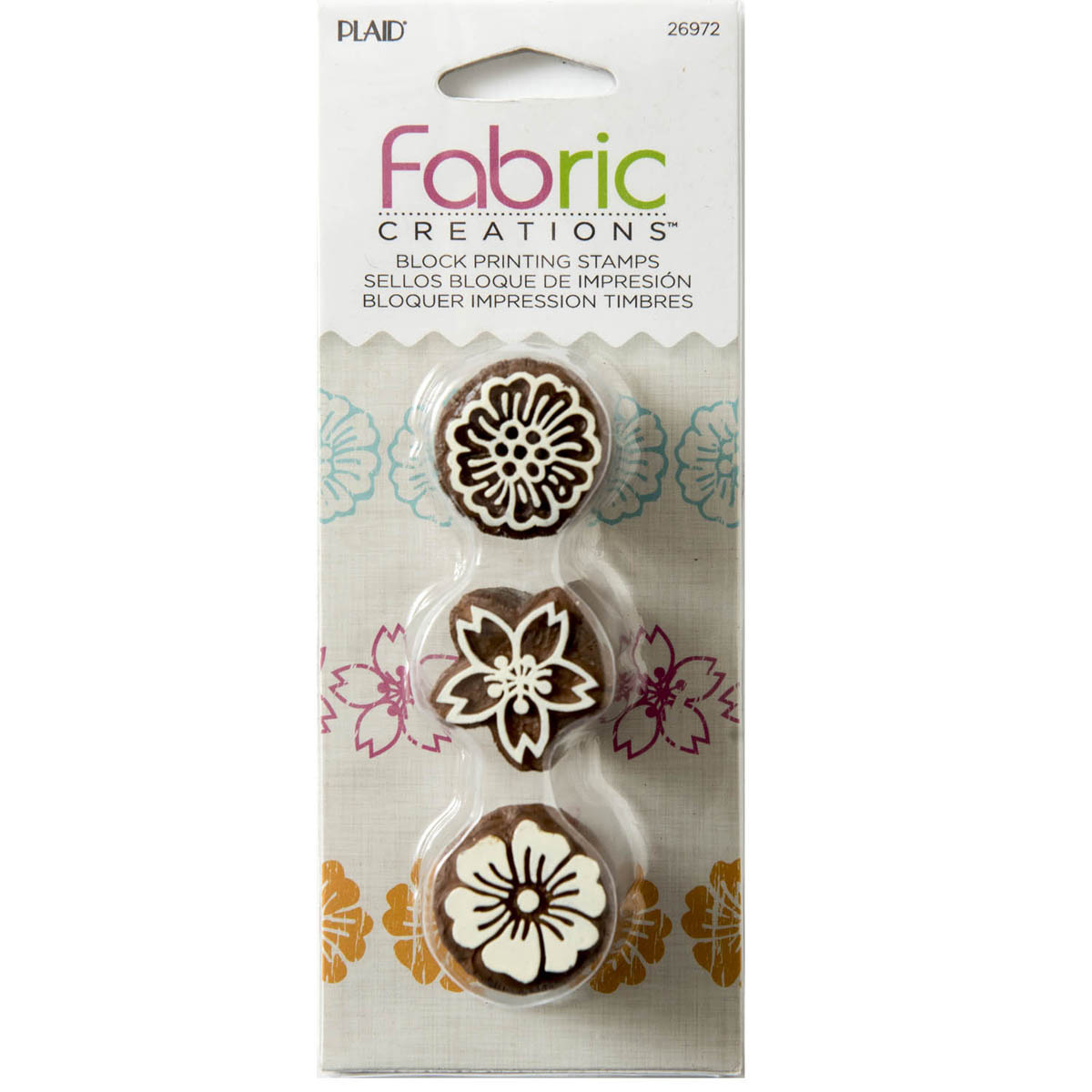 Fabric Creations™ Block Printing Stamps - Mini Set - Floral 1