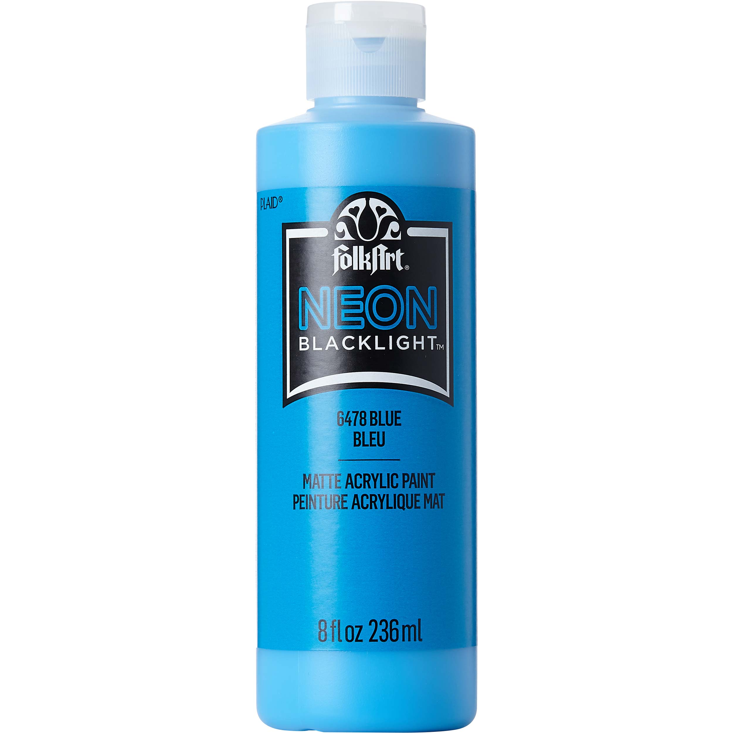 FolkArt ® Acrylic Colors - Neon Blue, 8 oz. - 6478E