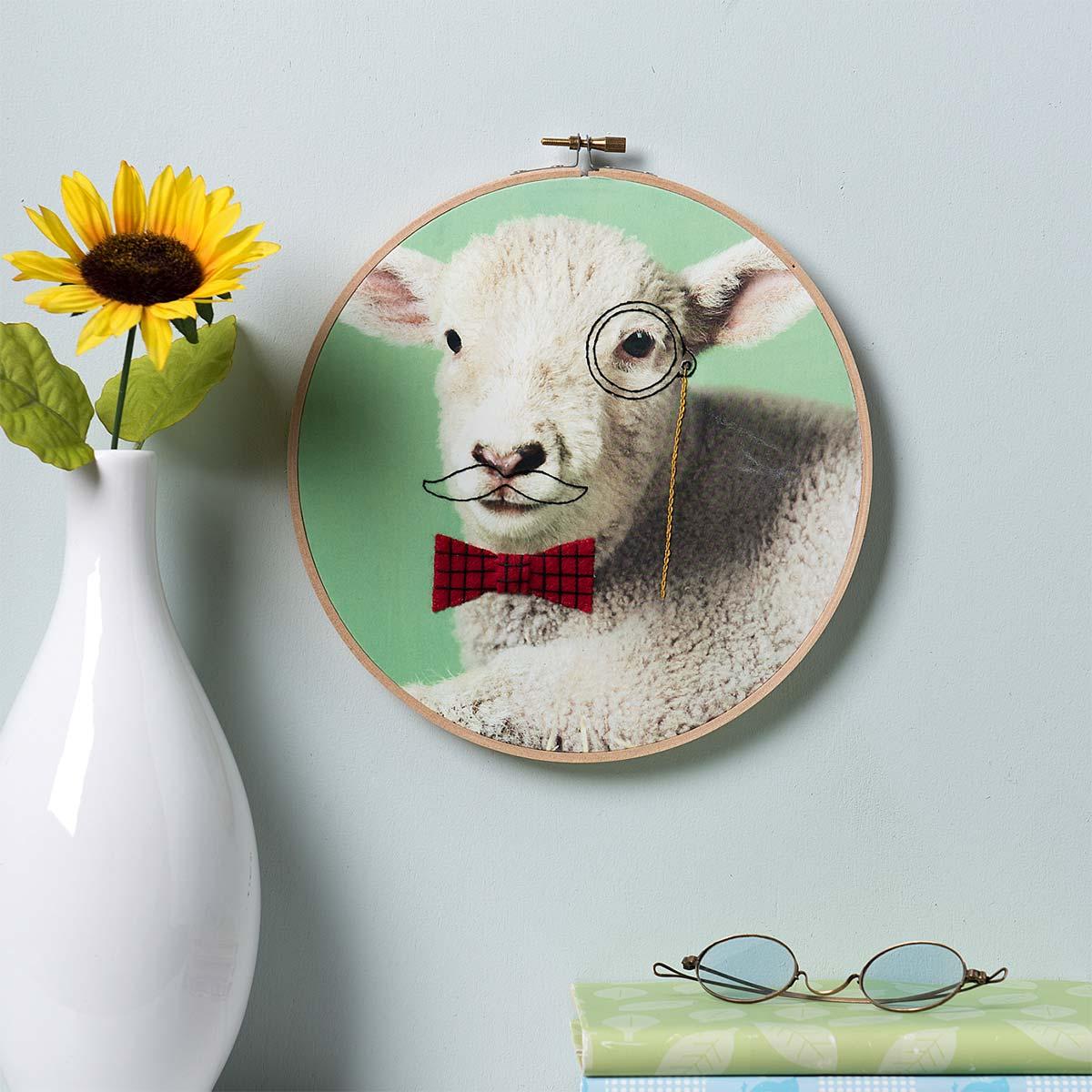 Photo Transfer and Stitching Wall Art