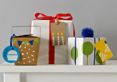 Handmade Charlotte Party Gift Wrap And Tags