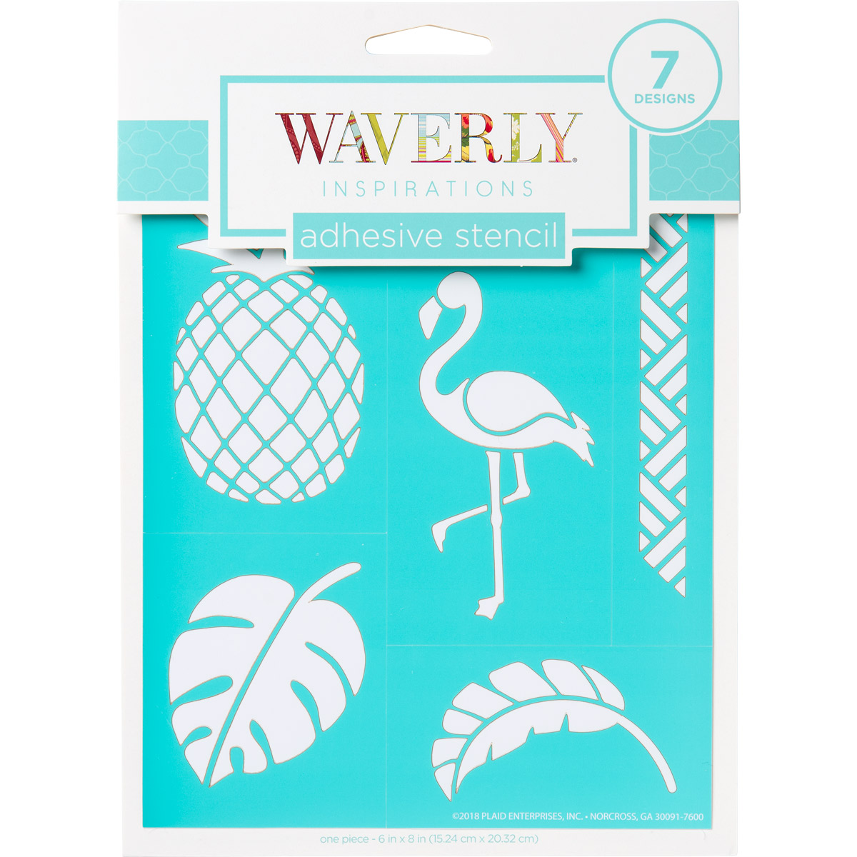 Waverly ® Inspirations Laser-cut Adhesive Stencils - Tropical, 6