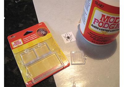Mod Podge Spider Bobby Pin
