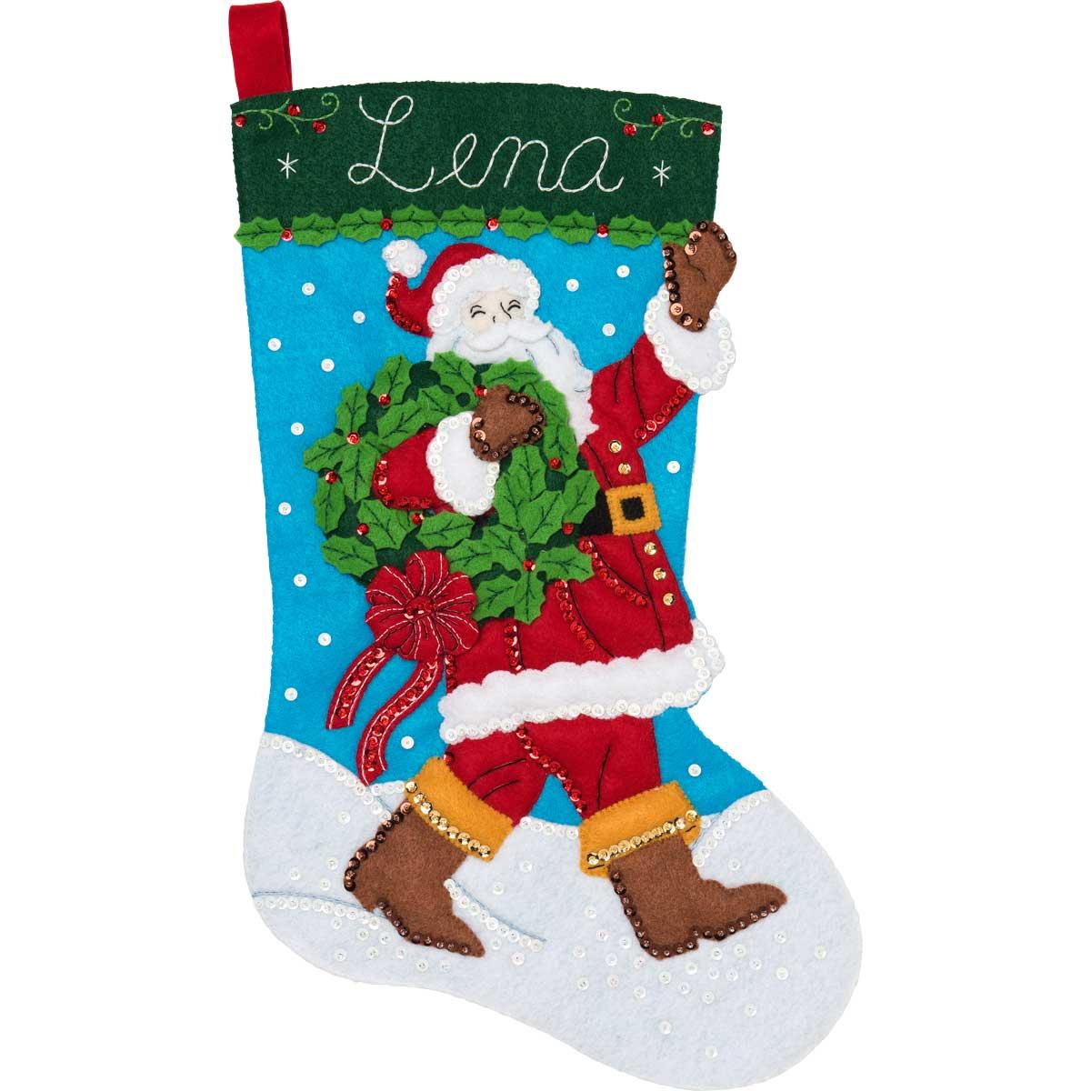 Bucilla ® Seasonal - Felt - Stocking Kits - Hallmark - Greetings From Santa