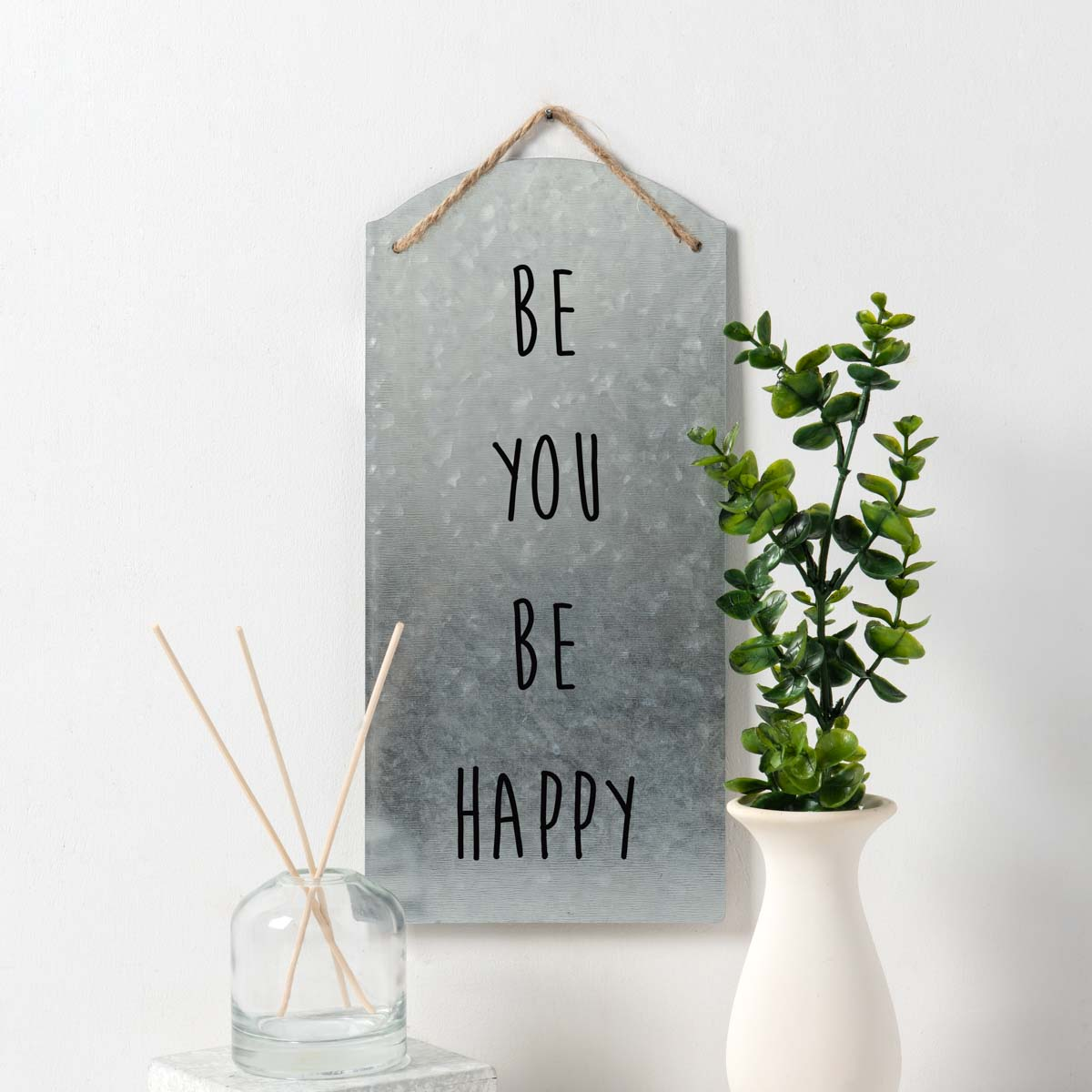 Be You Stenciled Tin Sign DIY