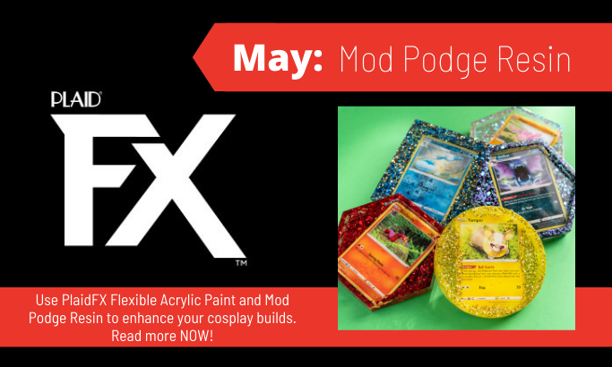 PlaidFX May 2021 - Mod Podge Resin