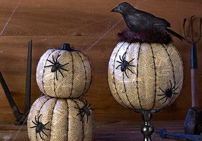 Vintage Pumpkin Decor