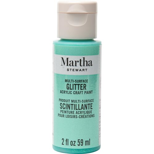 Martha Stewart ® Multi-Surface Glitter Acrylic Craft Paint - Wintermint, 2 oz. - 32147CA