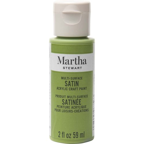 Martha Stewart ® Multi-Surface Satin Acrylic Craft Paint - Green Olive, 2 oz. - 32006CA