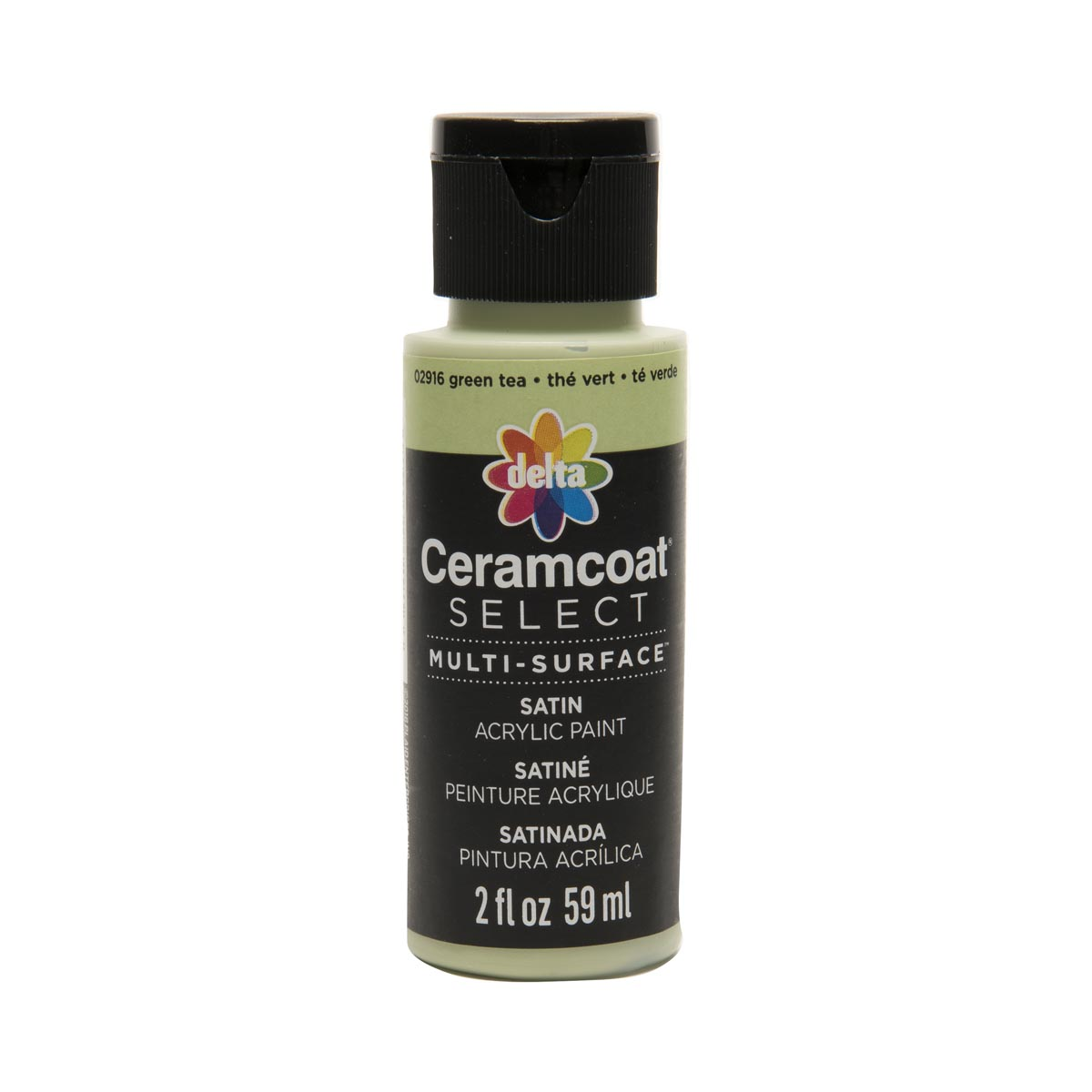 Delta Ceramcoat ® Select Multi-Surface Acrylic Paint - Satin - Green Tea, 2 oz. - 02916