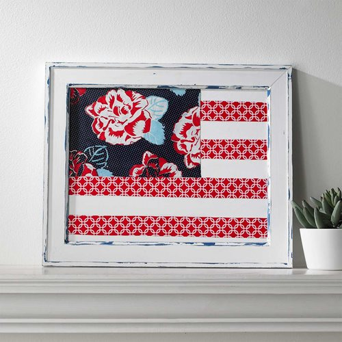 Floral Wooden Flag by Waverly Inspirations