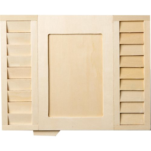"Plaid ® Wood Surfaces - Frames - Shutter, 10"" x 7.75"" - 44994"