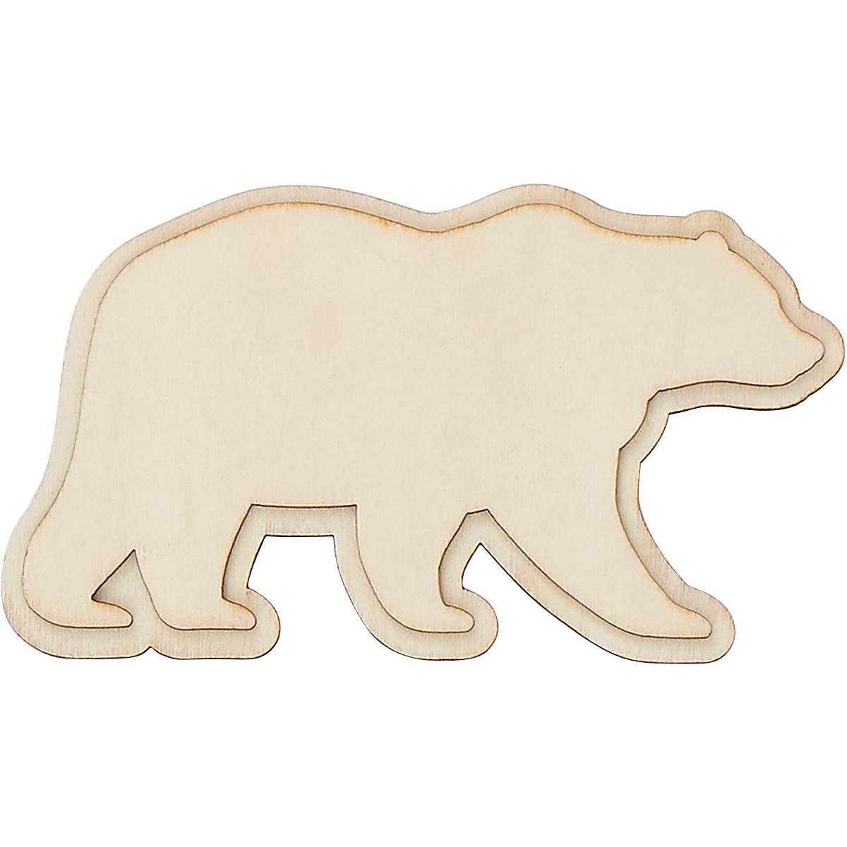Plaid ® Wood Surfaces - Unpainted Layered Shapes - Bear - 44977