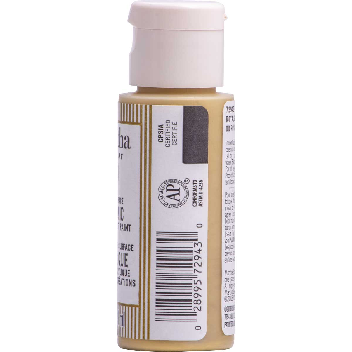 Martha Stewart ® Multi-Surface Metallic Acrylic Craft Paint CPSIA - Royal Gold, 2 oz. - 72943