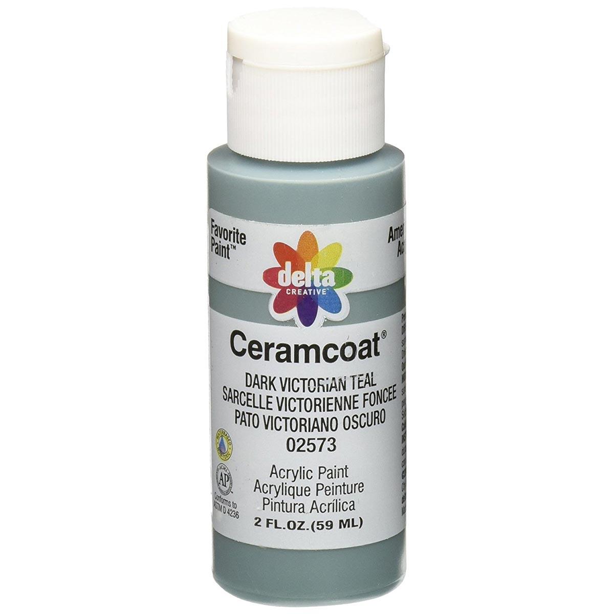 Delta Ceramcoat Acrylic Paint - Dark Victorian Teal, 2 oz. - 025730202W