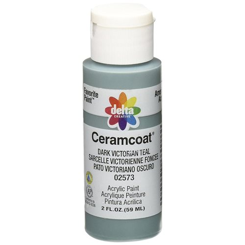 Delta Ceramcoat ® Acrylic Paint - Dark Victorian Teal, 2 oz.