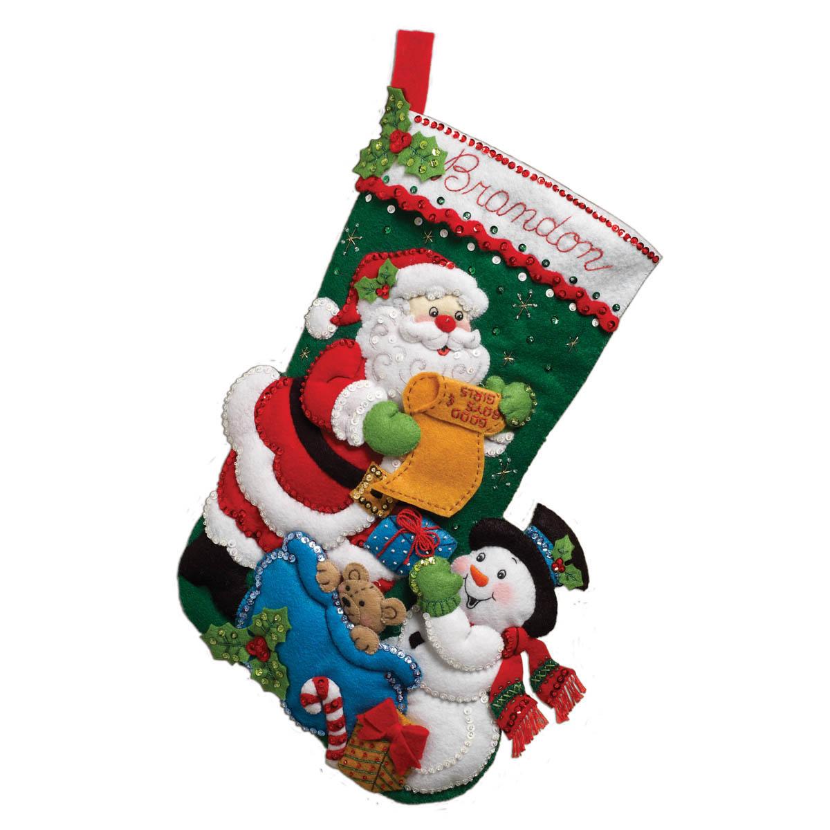 Bucilla ® Seasonal - Felt - Stocking Kits - Santa's List - 86360