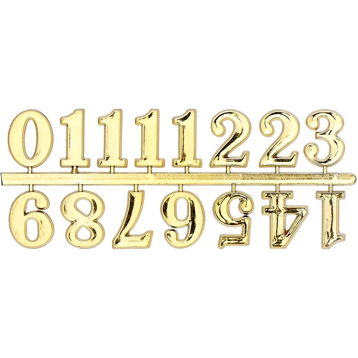 Plaid ® Accessories - Clock Numbers - Gold, 1