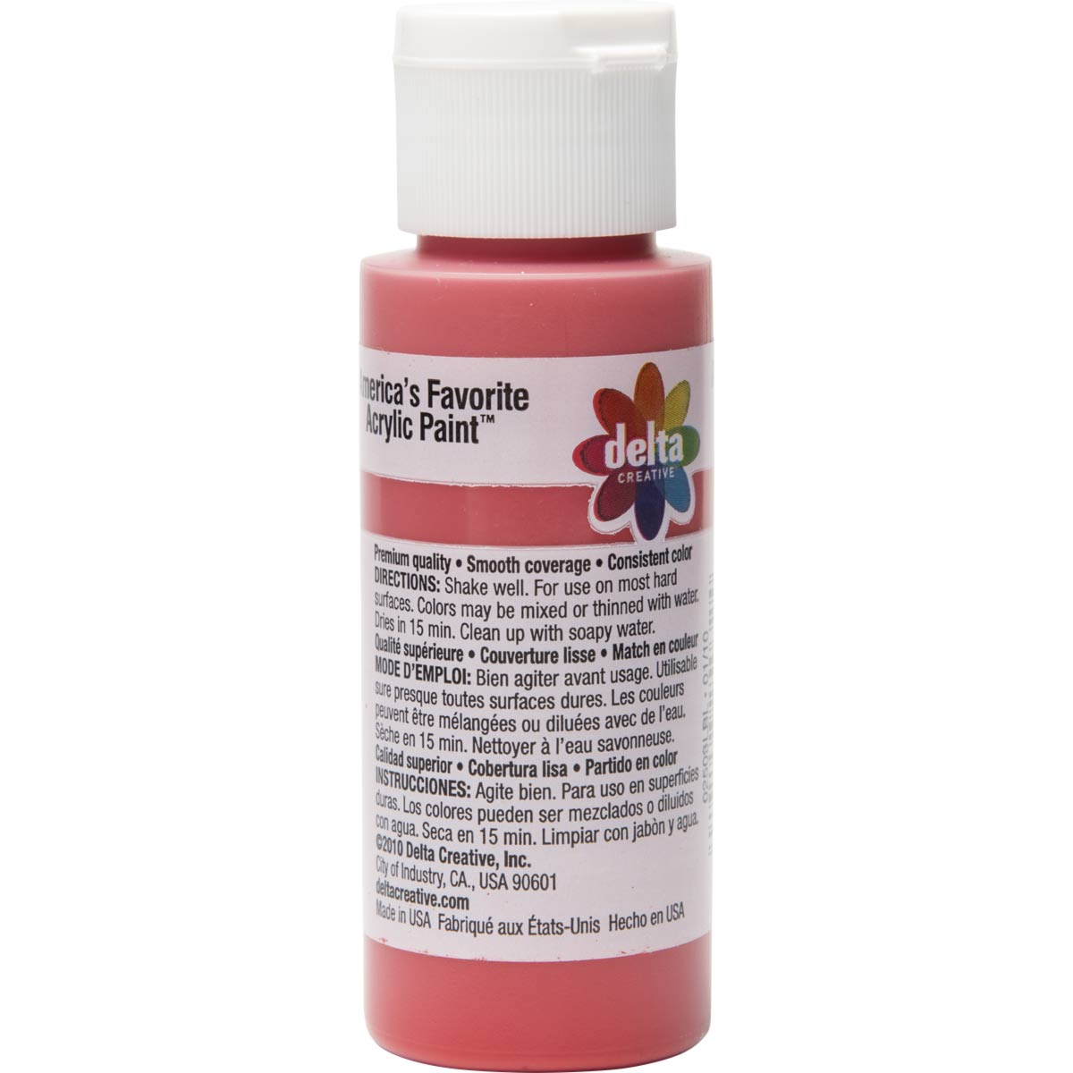 Delta Ceramcoat ® Acrylic Paint - Bright Red, 2 oz.
