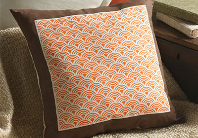 Stencil1 Scallop Pattern Throw Pillows