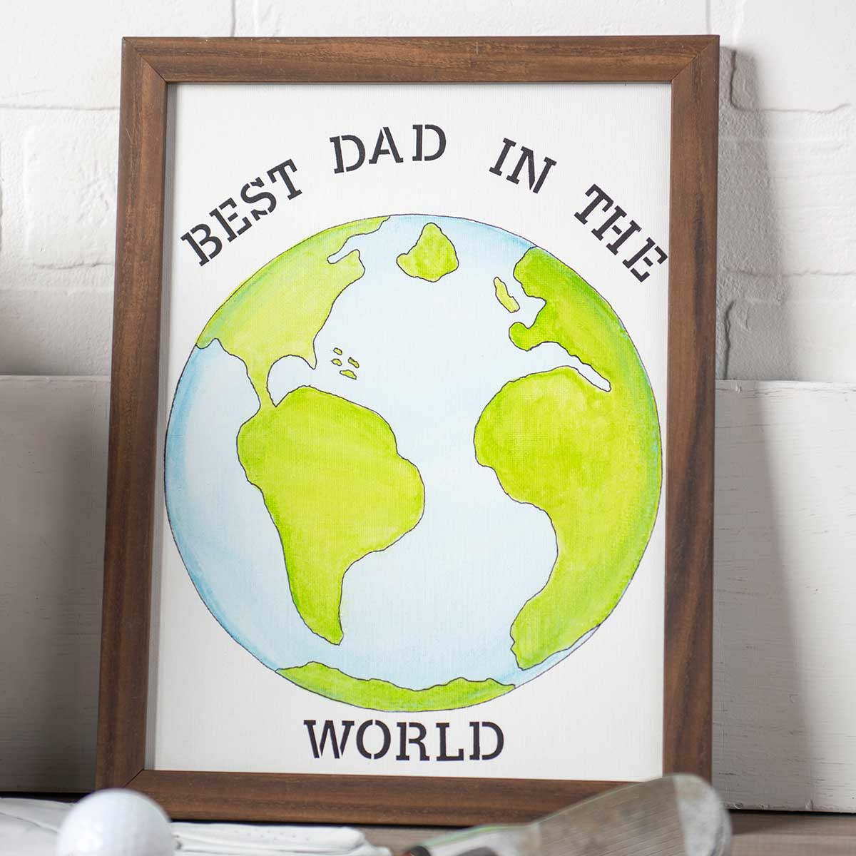 Best Dad in the World Framed Art DIY