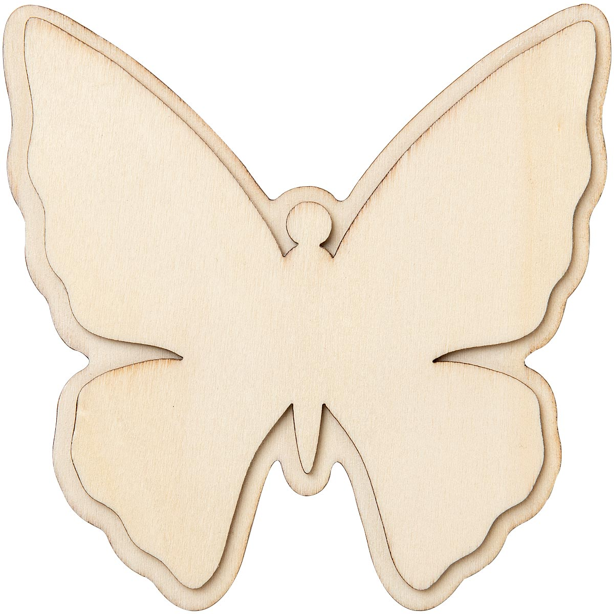 Plaid ® Wood Surfaces - Unpainted Layered Shapes - Butterfly - 44973