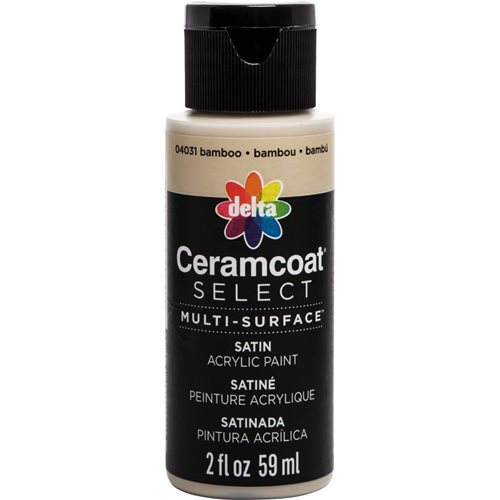 Delta Ceramcoat ® Select Multi-Surface Acrylic Paint - Satin - Bamboo, 2 oz. - 04031