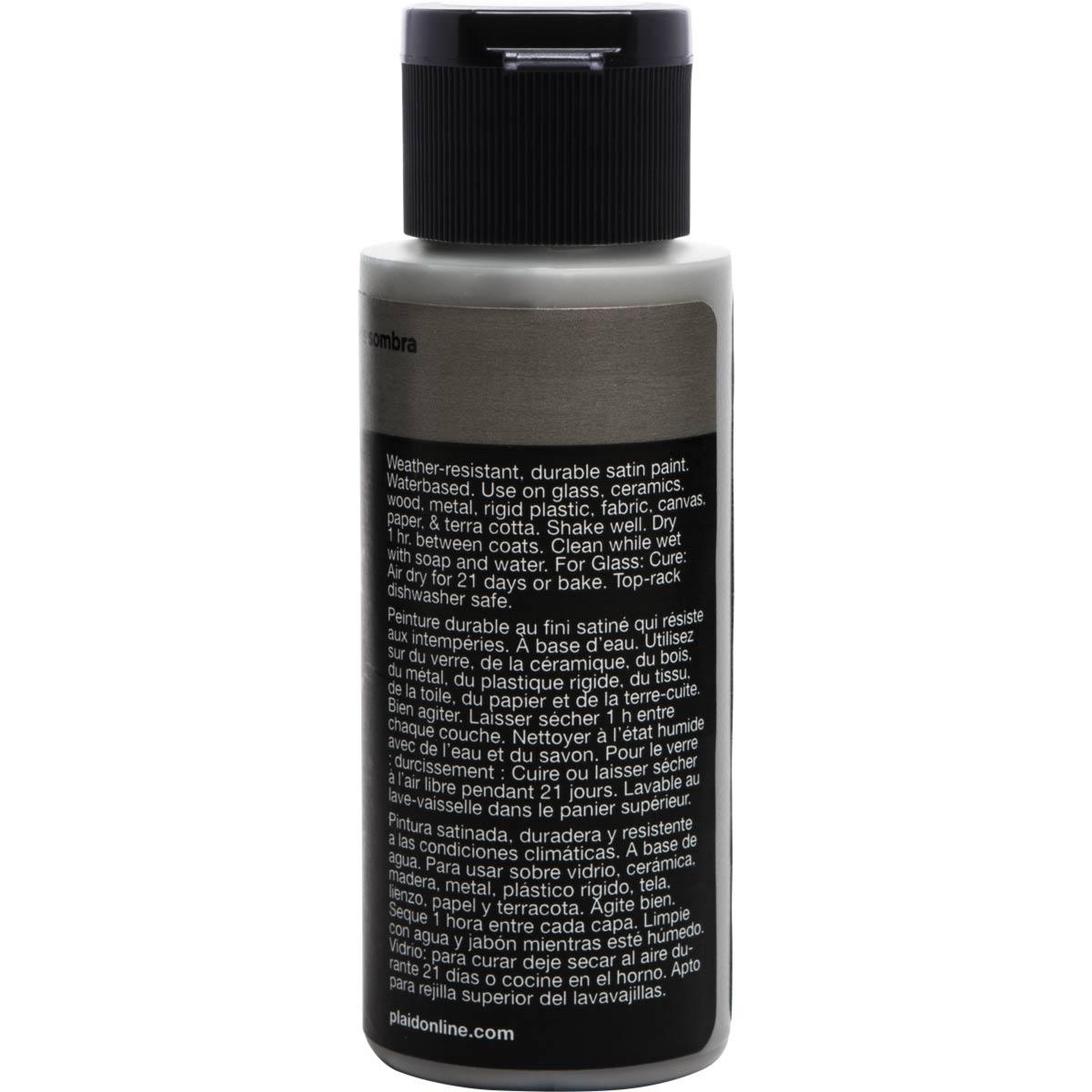 Delta Ceramcoat ® Select Multi-Surface Acrylic Paint - Satin - Shadow Gray, 2 oz. - 04037