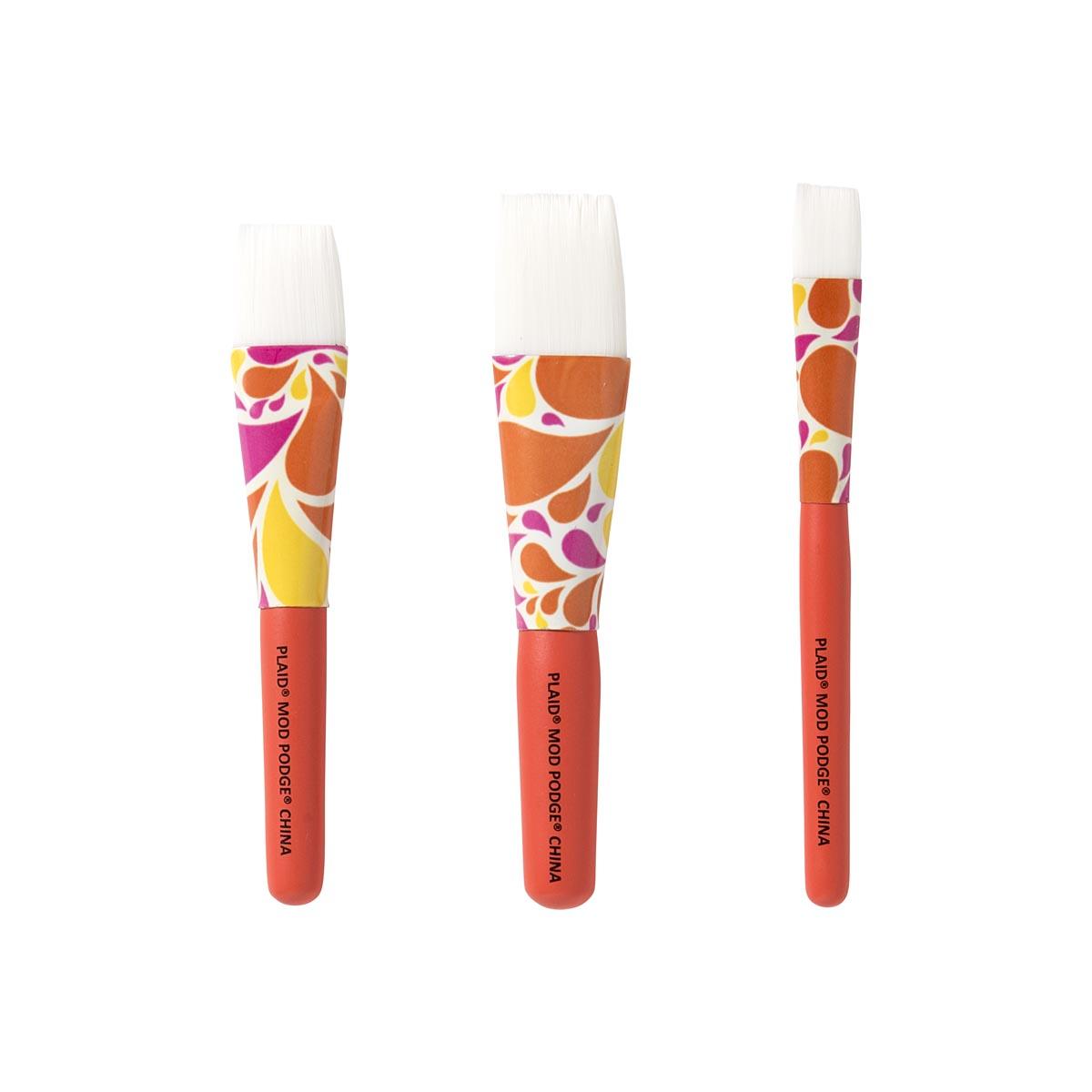 Mod Podge ® 3-piece Decoupage Brush Set